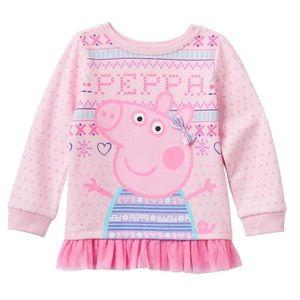 Peppa Pig tulle hem fleece-lined tunic 4T